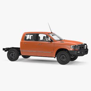 3D crew cab 4x4 truck