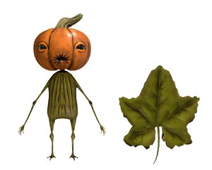3D character pumpkin model