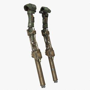 3D mech kitbash arm 01 model