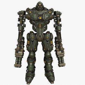 3D military mech 03 kitbash