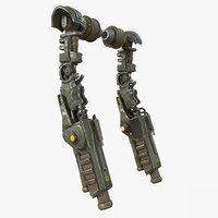 Sci-Fi Mech Kitbash Parts  - Arm 02 with ZBRUSH File Included
