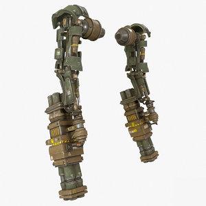 3D mech kitbash arm 03 model