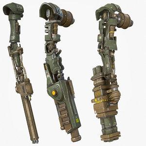 mech kitbash parts - 3D model
