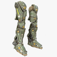 Sci-Fi Mech Kitbash  Parts - Leg 02 with ZBRUSH File Included