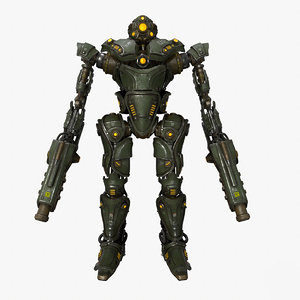 3D military mech 02 kitbash