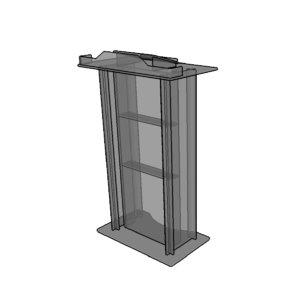 acrylic lectern 3D model