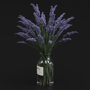 bouquet lavender 3D model