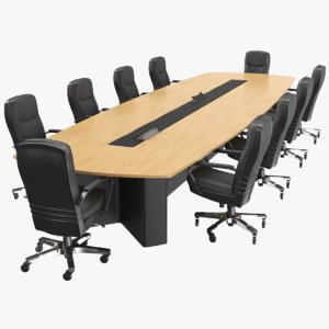 real meeting table 3D model