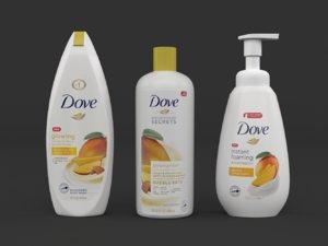 3D dove body wash model