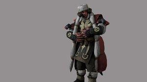 viking character pbr rig 3D model