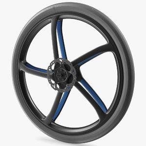 3D carbon fiber bicycle wheel