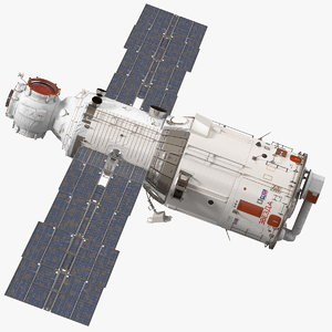 iss zvezda service module 3D