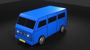 3D model van vehicle car