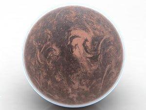3D model star wars planet earth mars