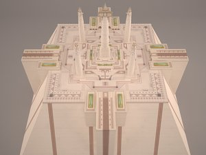 3D model star wars temple