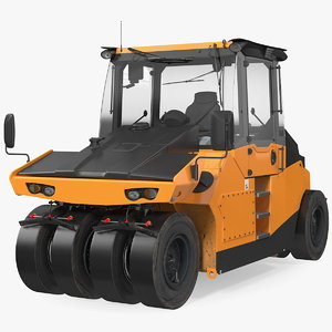 3D pneumatic tyred road roller model