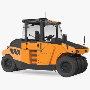 3D pneumatic tyred road roller