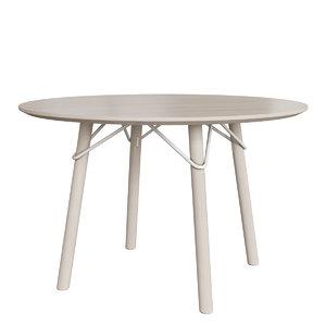 3D connubia cb4807-fd120 tria dining table model