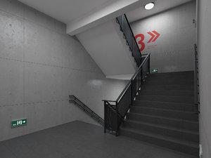emergency stairs model