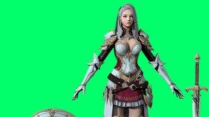 milia cartoon knight 3D
