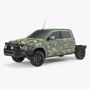 3D crew cab dodge ram model