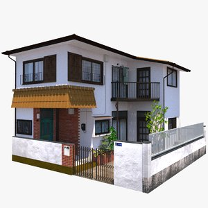 3D japanese townhouse
