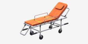 3D model steel ambulance stretcher