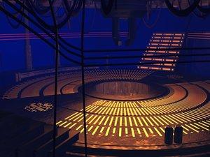 jedi council chamber architecture 3D model