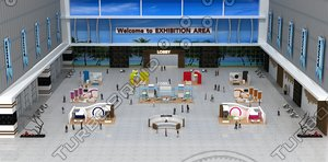 exhibition area virtual summit 3D