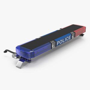 police vehicle light bar 3D model