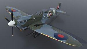 3D supermarine spitfire airplane aircraft