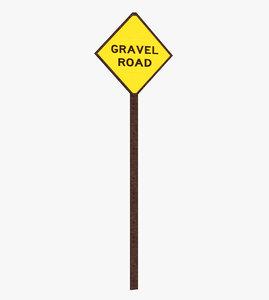 3D model sign gravel grave