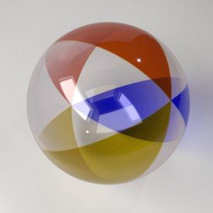 3D model beach ball 3