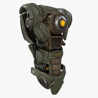Sci Fi Mech Kitbash  Parts Body 01 with ZBRUSH File Included