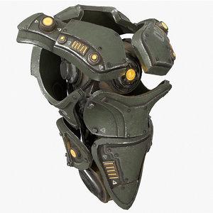 3D mech kitbash parts - model