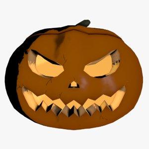 cartoon halloween pumpkin 3D model