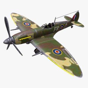 3D spitfire fighter plane