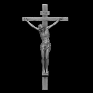sculpture jesus christ cross 3D model