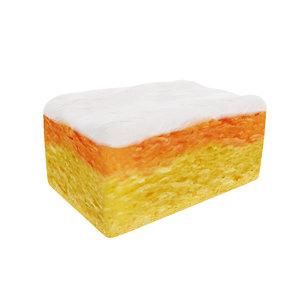 3D multicolored colored cream