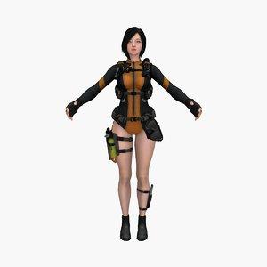 warrior girl v6 model