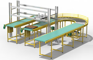 3D cake transport unit conveyors model
