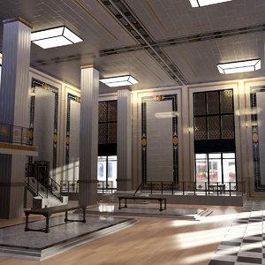 3D luxury interior modular model