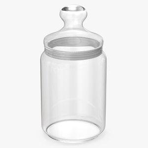 glass jar 1 l 3D