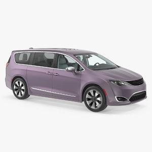 family minivan 3D model