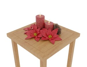 christmas decoration candles model