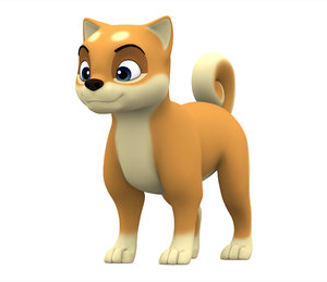 shiba inu puppy 3D