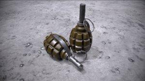 soviet f1 grenade model