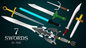 3D blender sword model