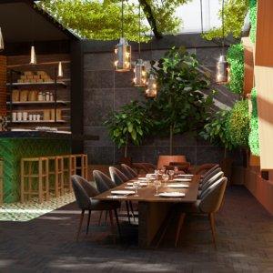 vegetal restaurant coffeeshop moroccan 3D model