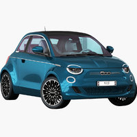 FIAT 500 La Prima 2020 Opening doors and trunk